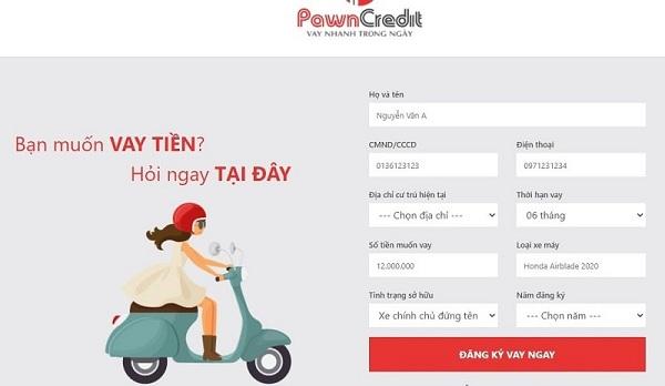 Hướng dẫn cách cầm cố giấy tờ xe Online tại PawnCredit